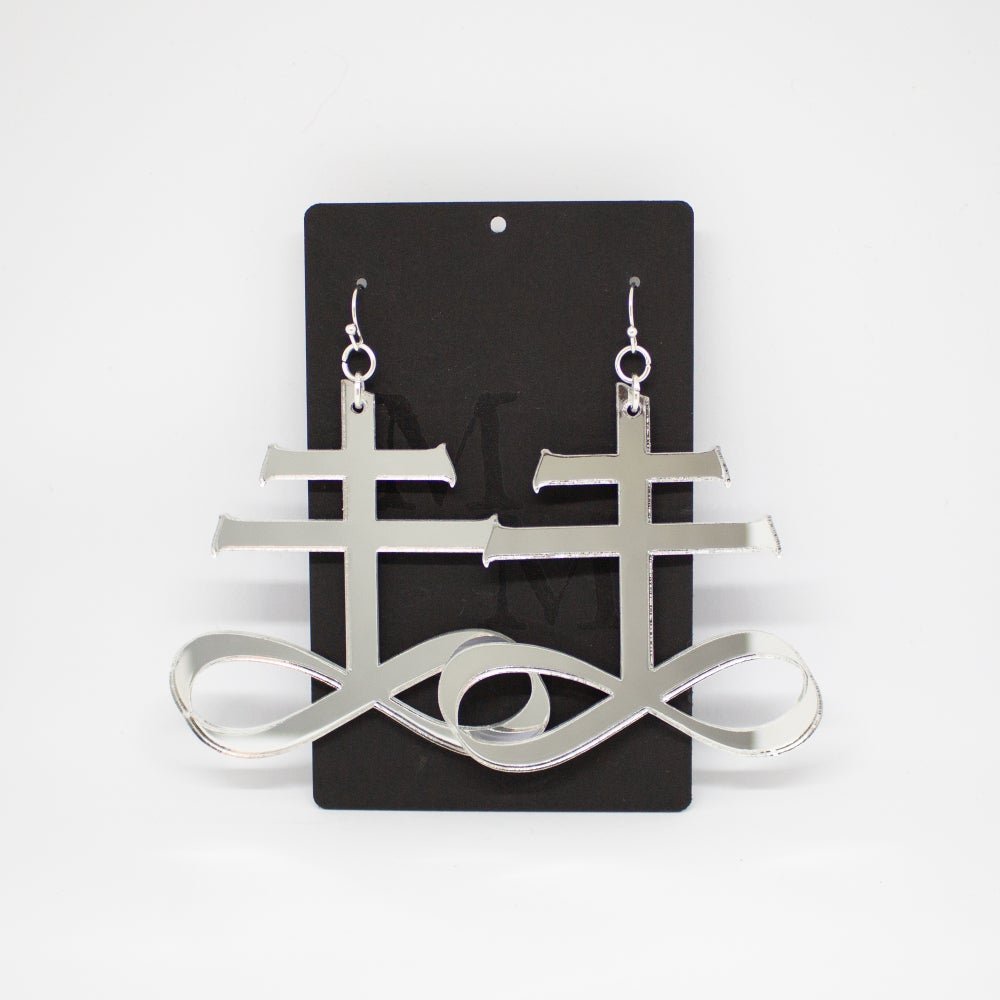 Image of Earring: Leviathan Cross
