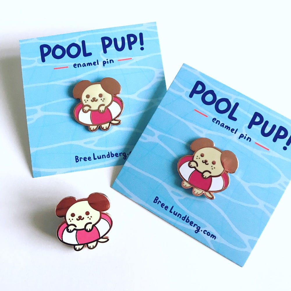 Image of Pool Pup - Enamel Pin