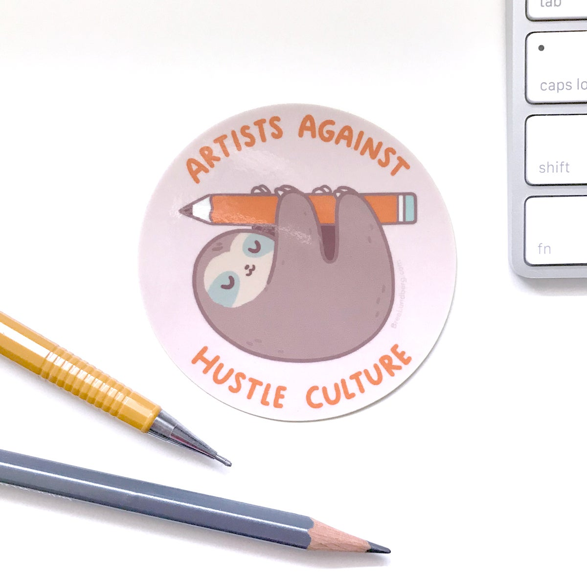 Image of Artists Against Hustle Culture - Sticker