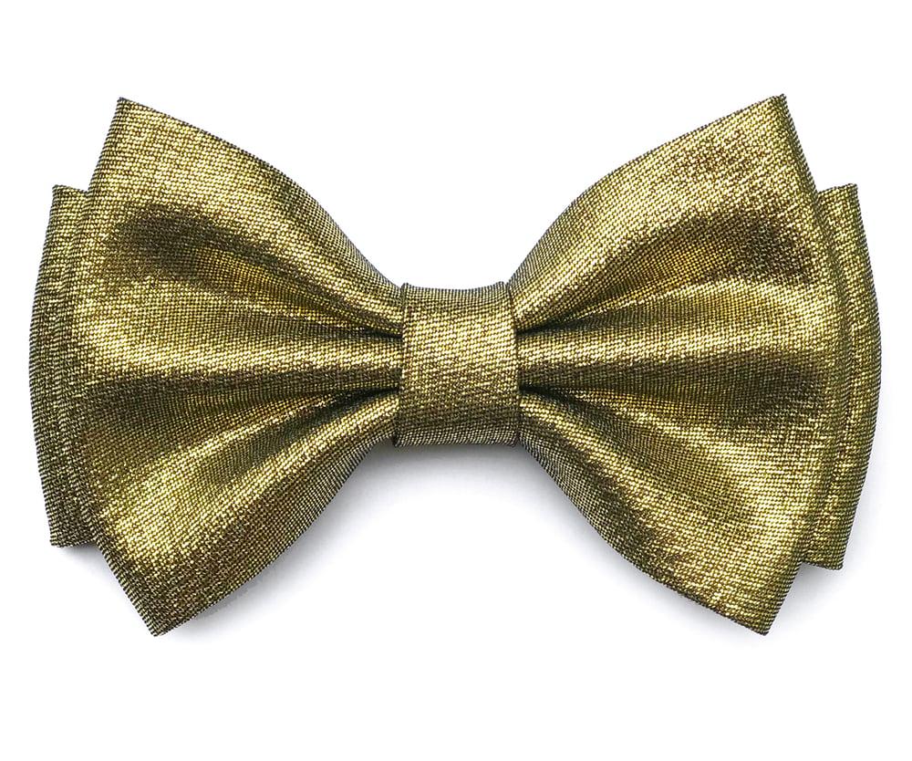 Image of Dark Gold pre-tied bow tie