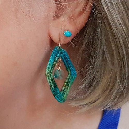 Image of ARGYLE EARRINGS - Agean Sea