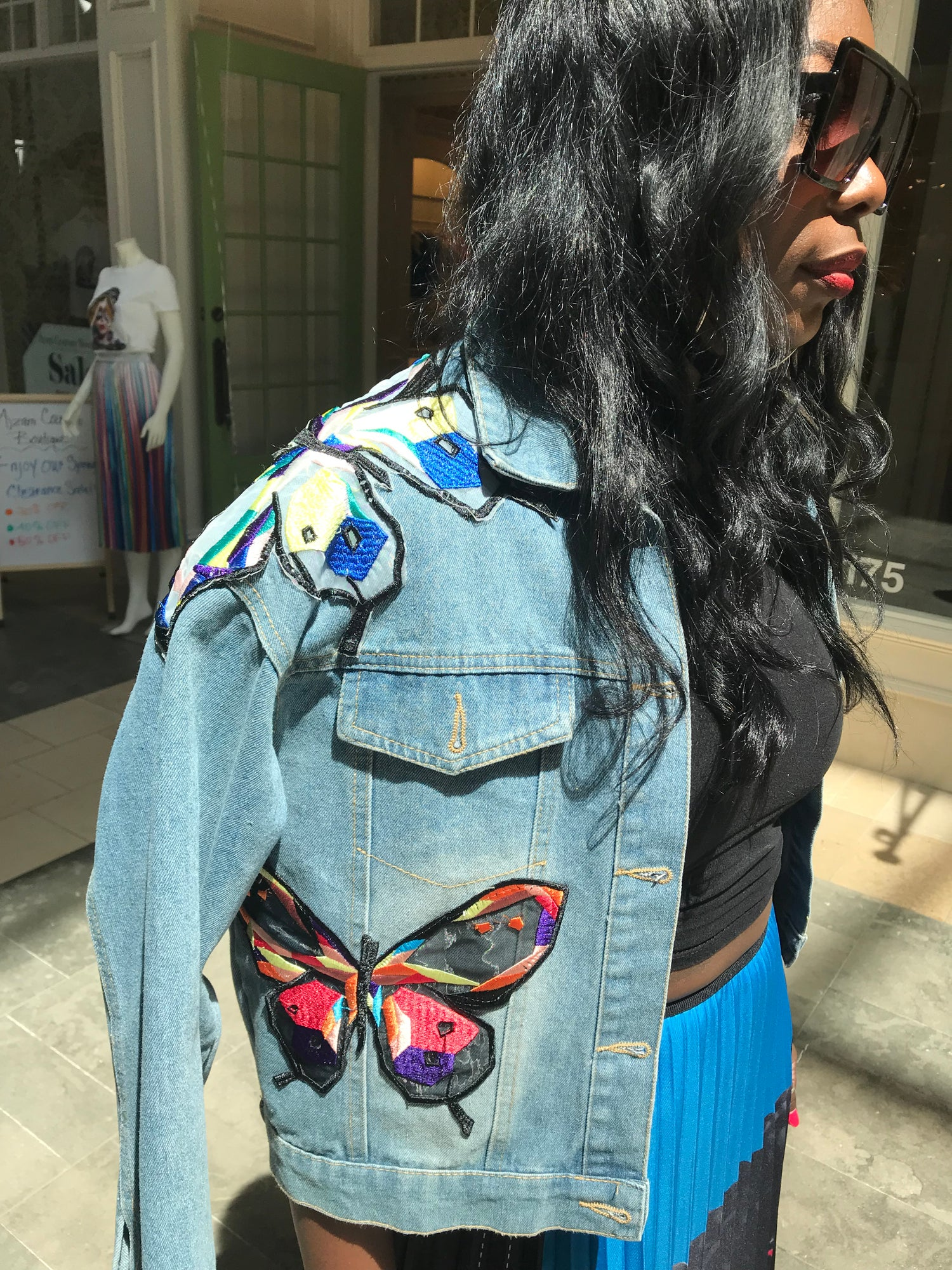Image of Butterfly Jean Jacket