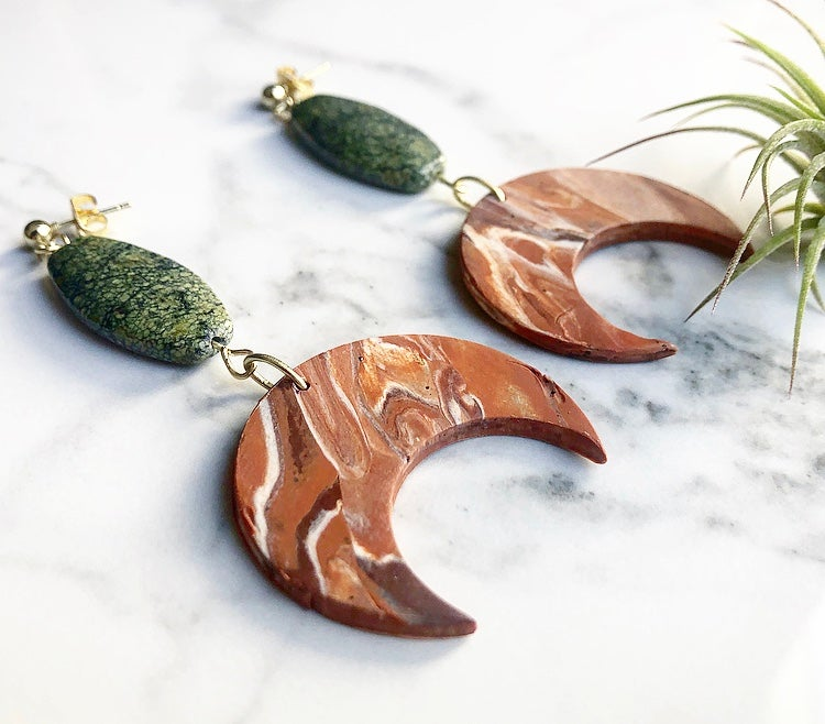 Image of mars-marbled clay + green jasper