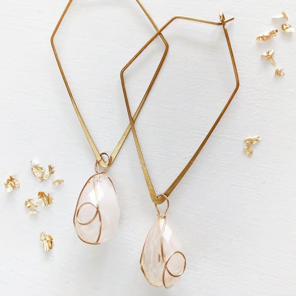 Image of SPELL | Geometric Opal dangle earring