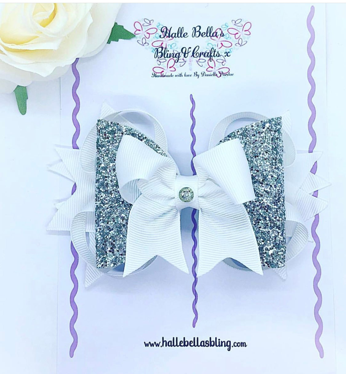 Image of Silver and white glitter princess