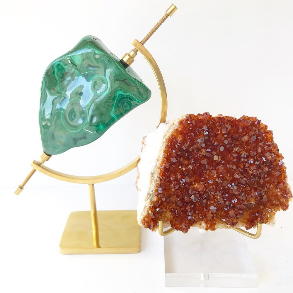 Image of Citrine no.01 Wildflowers Collection Lucite Pairing