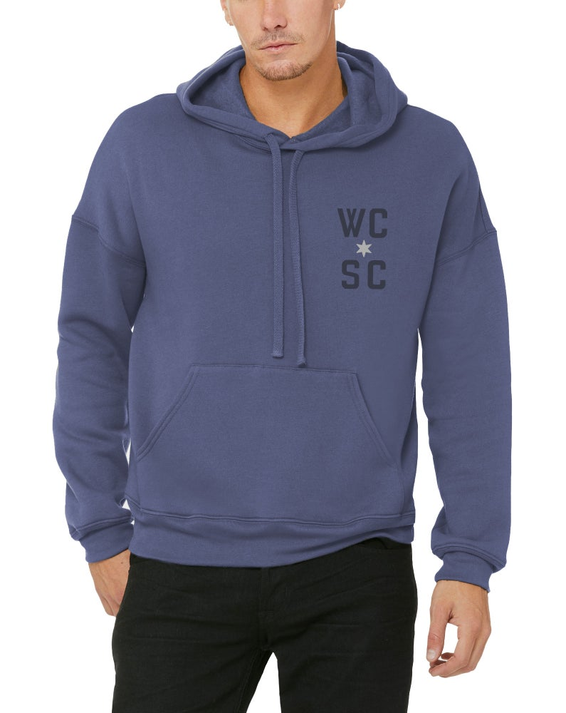Image of Unisex Hoodie (Heather Blue)