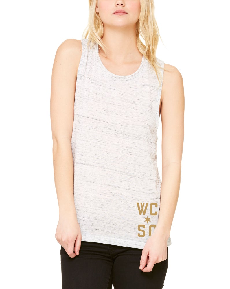 Image of Womens Flowy Scoop Muscle Tank (Natural Slub)
