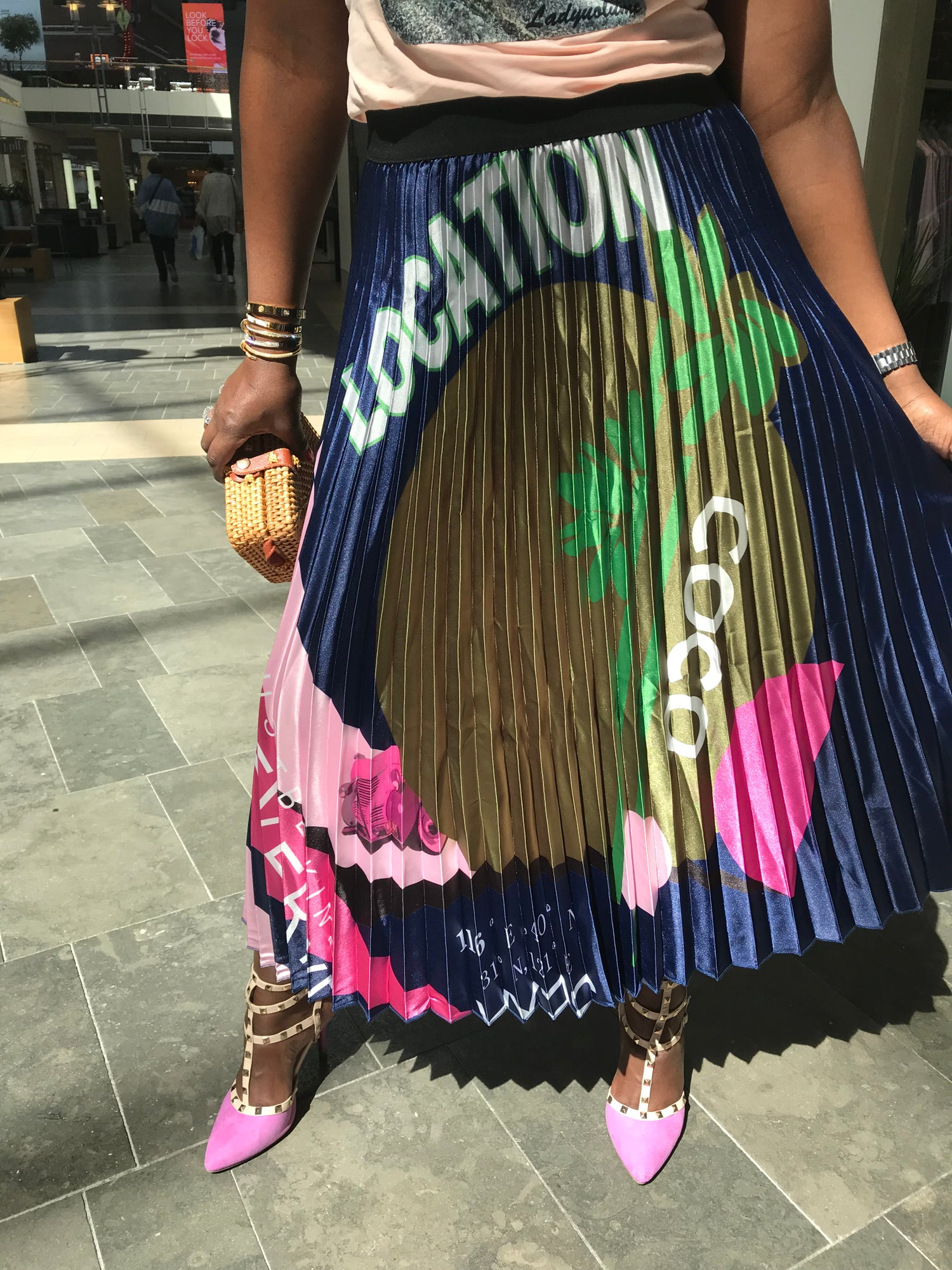Image of Pleated Location Skirt