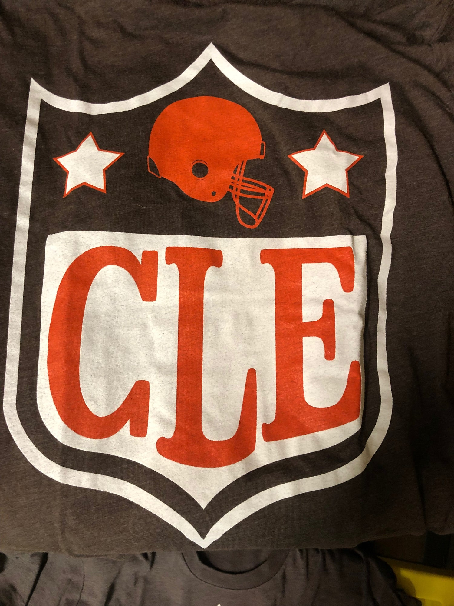 Image of CLE NFL Brown T-shirt