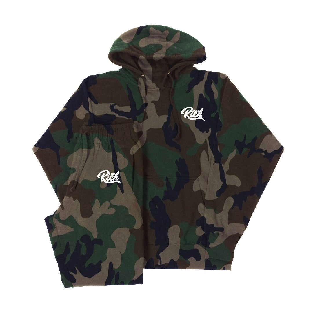Image of Get Rich Sweatsuit Set -  Camo
