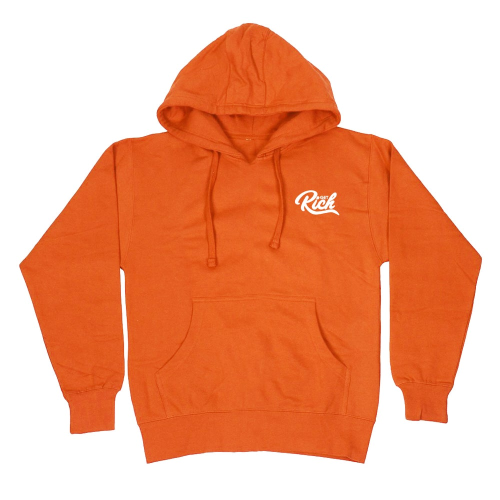 "Image of Get Rich ""Pullover"" Hoodie - Orange"