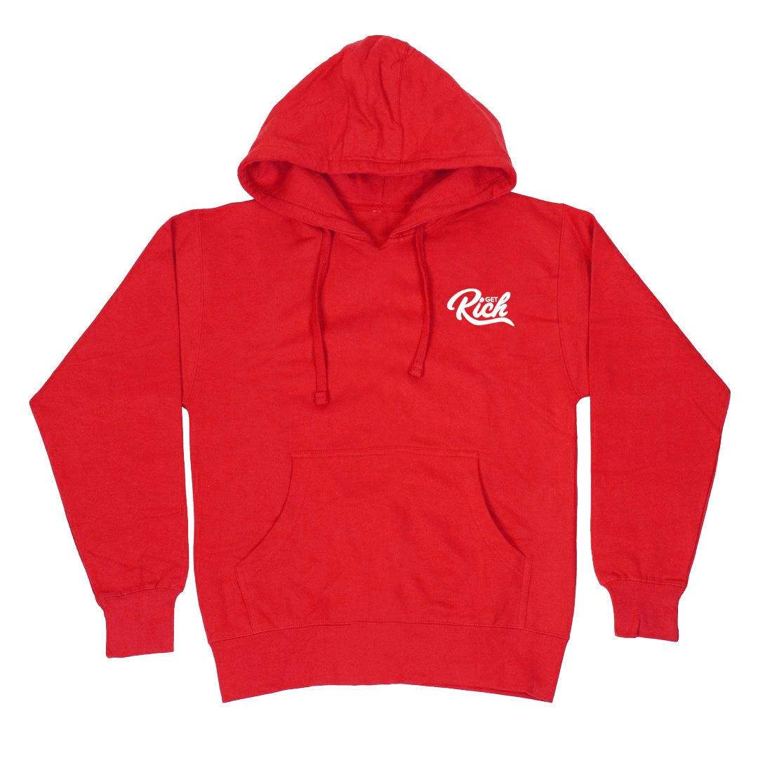 """Image of Get Rich """"Pullover"""" Hoodie - Red"""