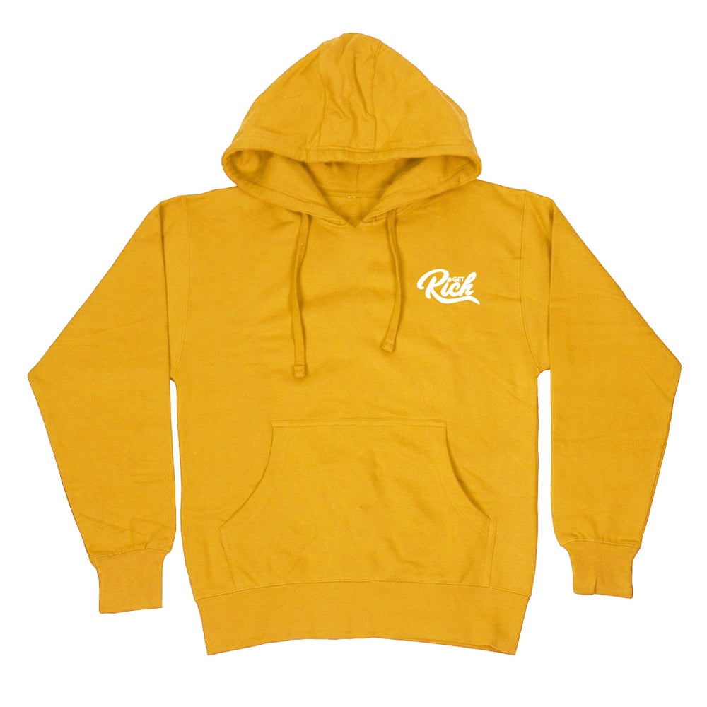 "Image of Get Rich ""Pullover"" Hoodie -  Yellow / Gold"