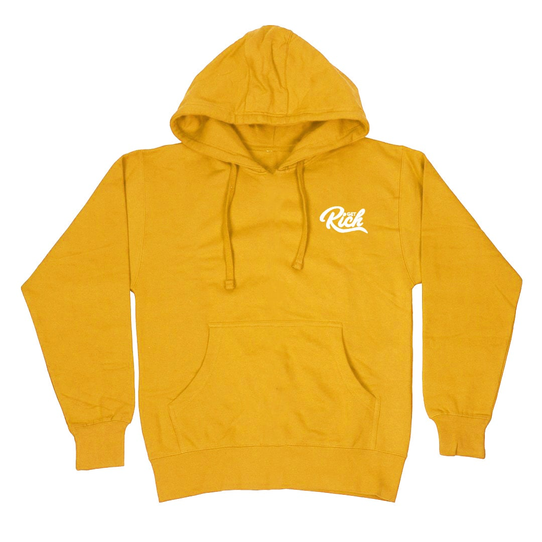 """Image of Get Rich """"Pullover"""" Hoodie -  Yellow / Gold"""