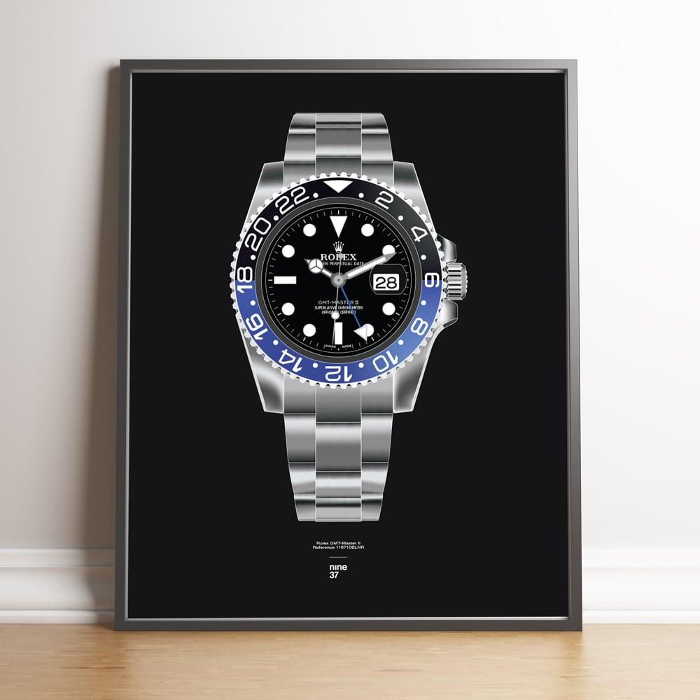 Image of Rolex GMT-Master II BLNR Bracelet Print