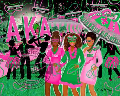 Image of AKA Mardi Gras (Regional Commemorative Art)