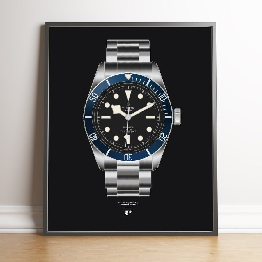 Image of Tudor Black Bay Blue ETA Print