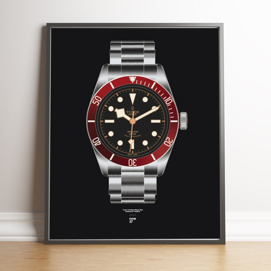Image of Tudor Black Bay Red ETA Print