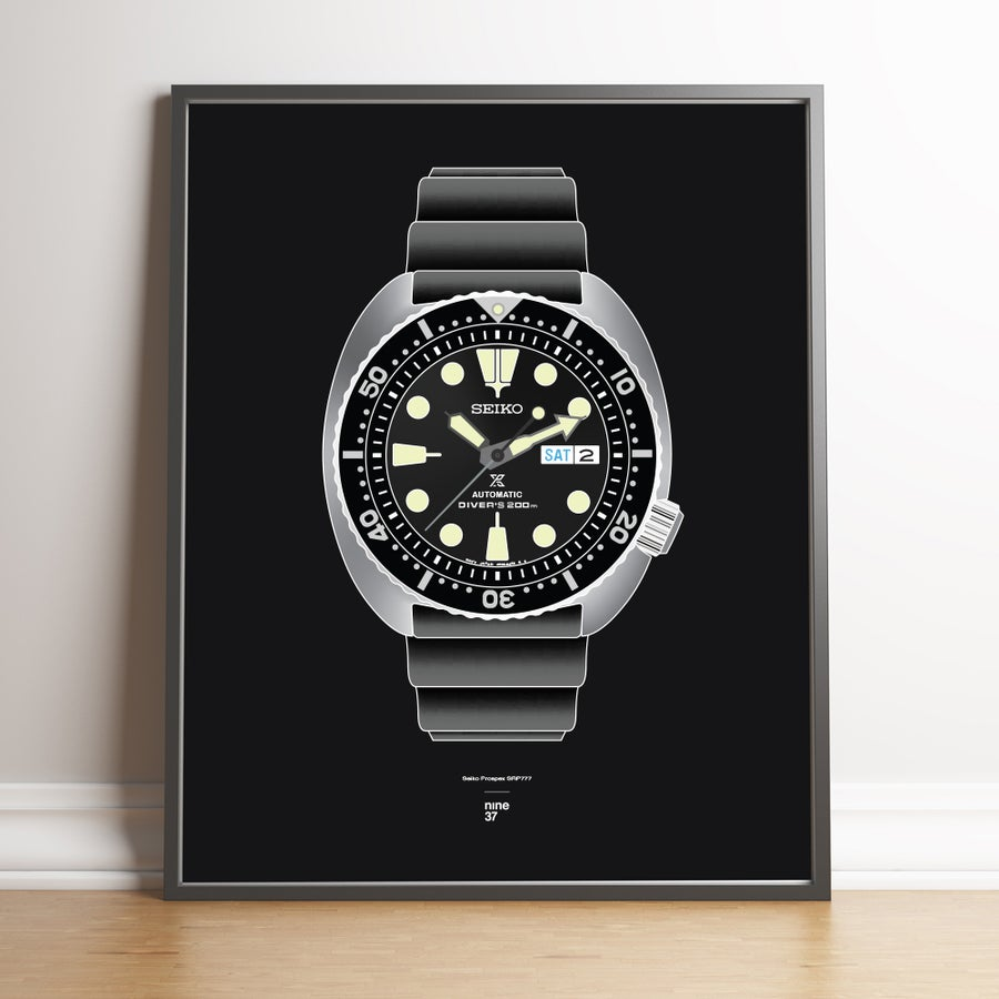 Image of Seiko SRP777 Rubber Strap Print
