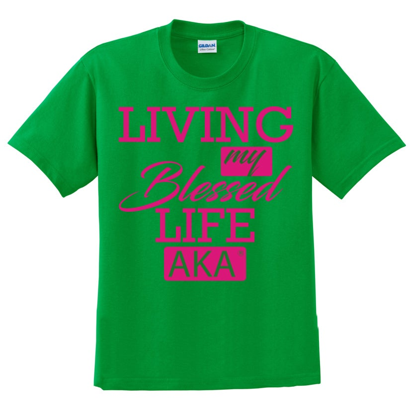 Image of AKA Living My Blessed Life (Glitter T-Shirt)