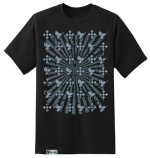 Image of Edifice Clothing STARBURST Mens 2 color hand printed Short Sleeve S-XXL