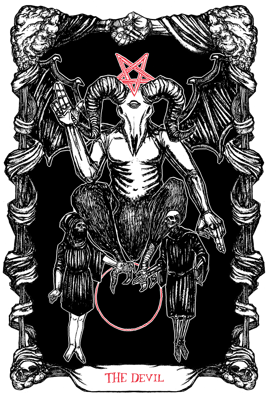 "Image of ""The Tarot of the Devil"" 8.5""x11"" Watercolor Print"