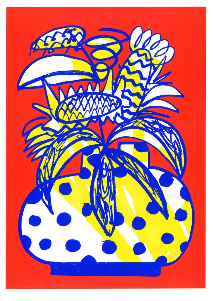Image of Flowerpot Screenprint Red A2