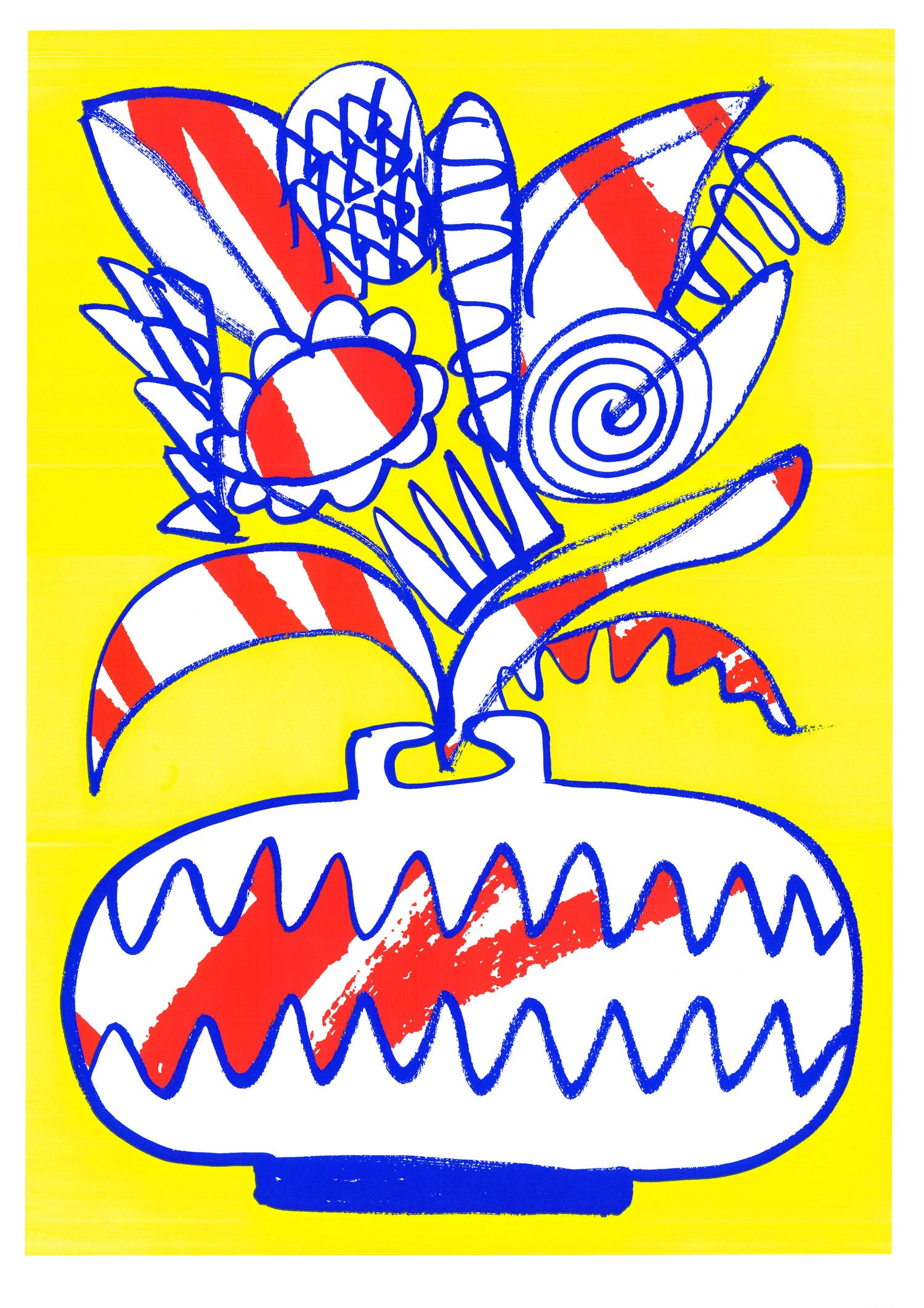 Image of Flowerpot Screenprint Yellow A2