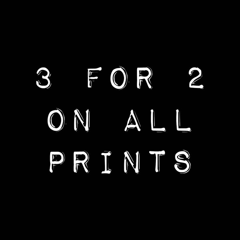 Image of 3 for 2 on all A4 prints