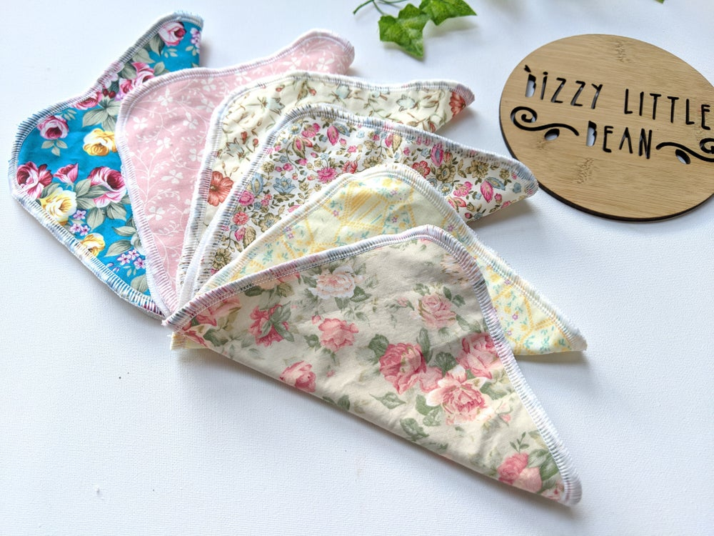 Image of Vintage and Floral Cloth Wipes