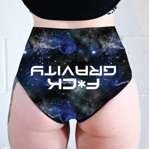 Image of F*ck Gravity High Waisted Cheeky Shorts