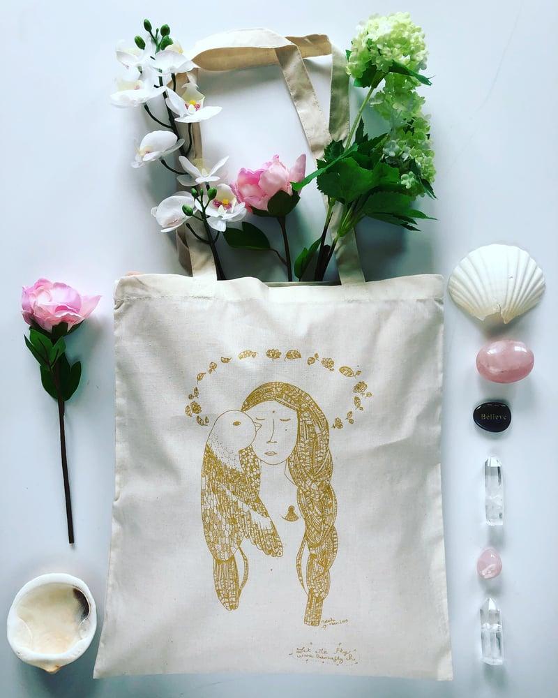 Image of Tote Bag *Woman Bird*