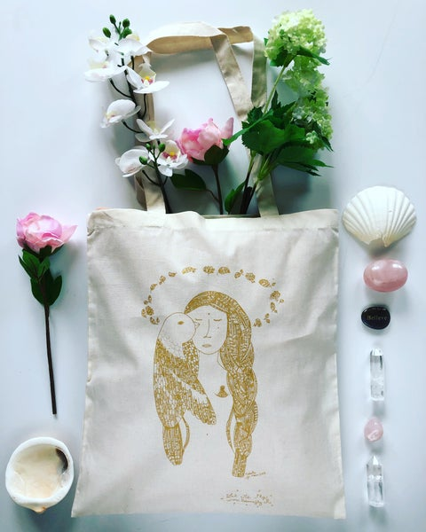 Image of Tote Bag *Woman Bird*