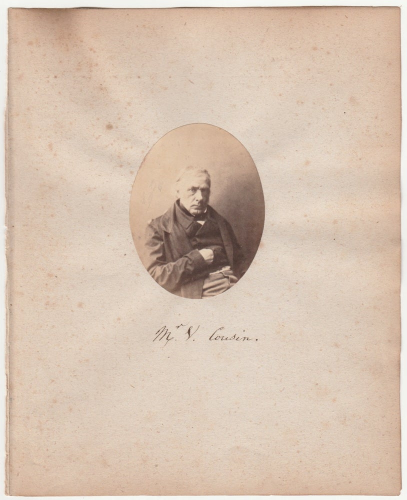 Image of Gustave Le Gray: portrait of Mr. Victor Cousin, ca. 1860