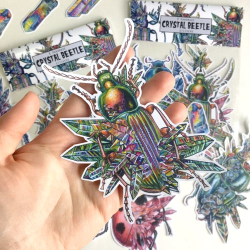Image of Crystal Beetle Sticker Pack