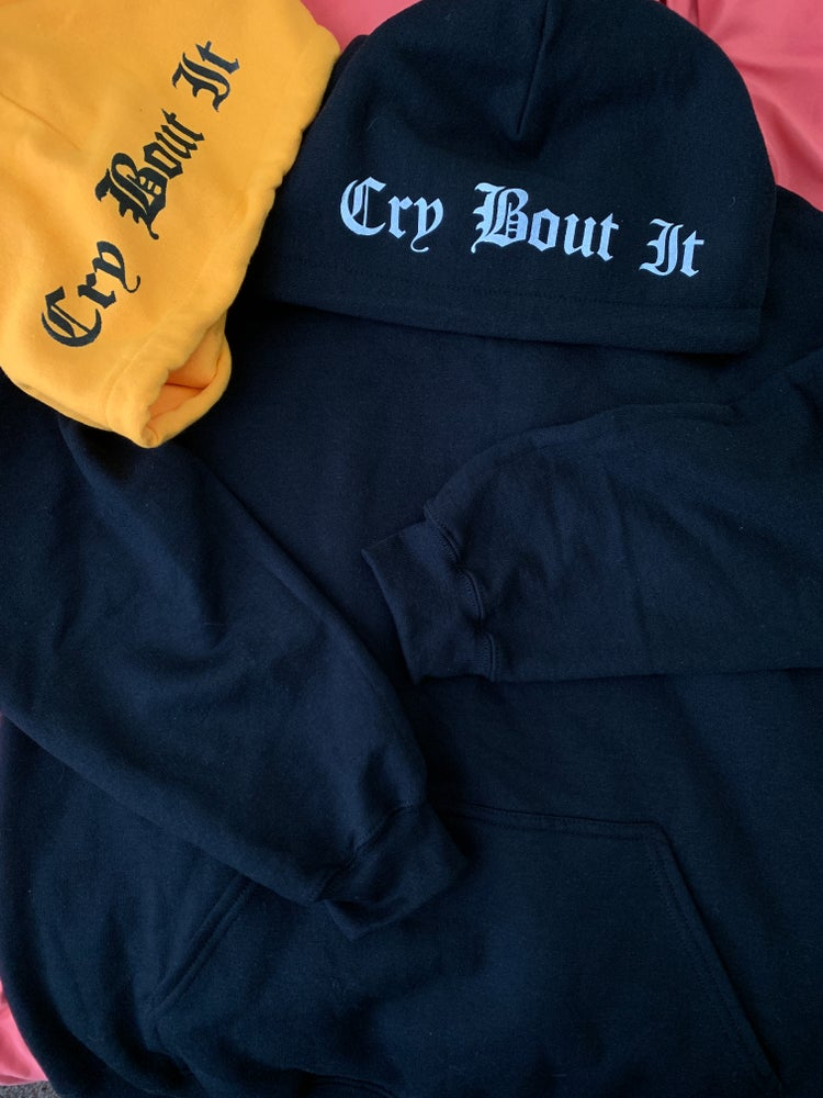 Image of Cry Bout It unisex hoodies