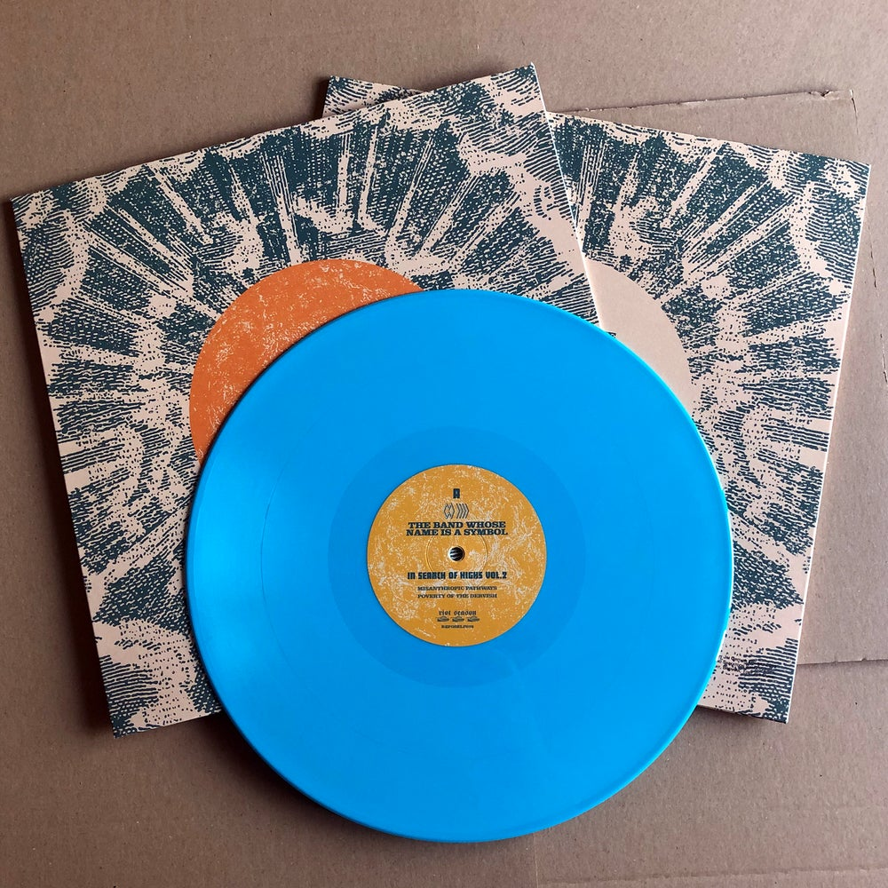 THE BAND WHOSE NAME IS A SYMBOL / SHOOTING GUNS 'In Search Of Highs Vol 2' Blue Vinyl LP