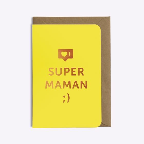 Image of CARTE SUPER MAMAN
