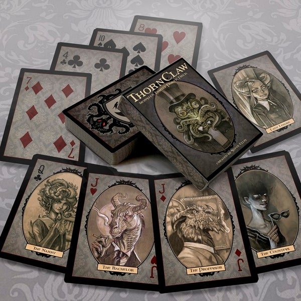 Image of The Original Thornclaw Monster Family Poker Deck