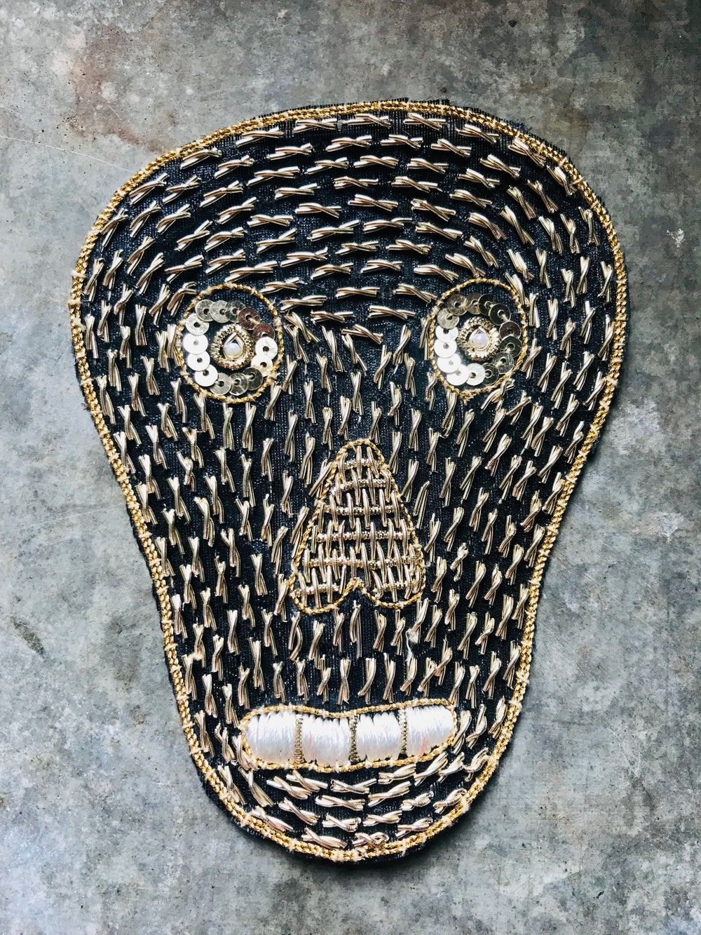 Image of Embroidered Skull Sew-on Patch