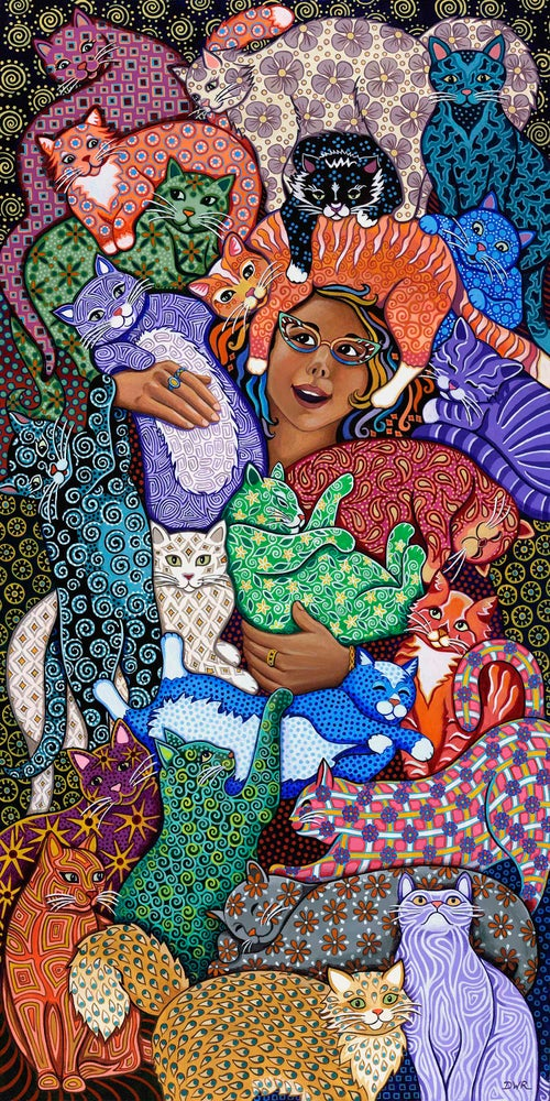 """Image of """"The Cat Lady"""" Prints"""