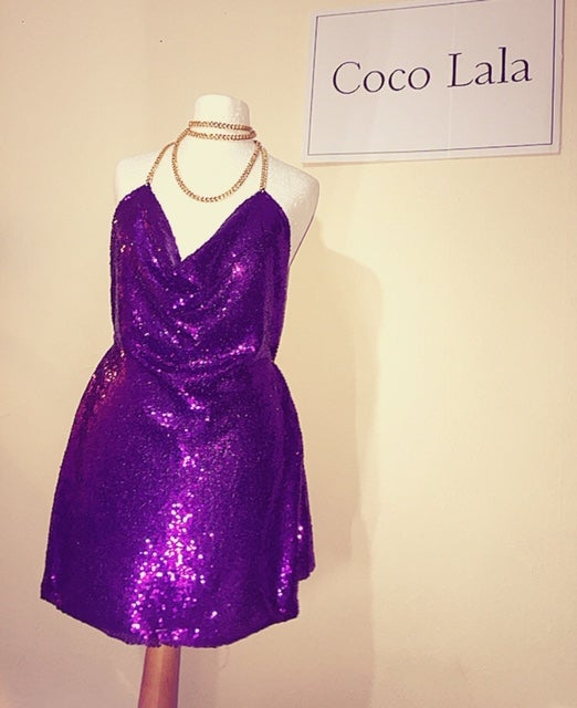 Image of Diamond Purple Dress