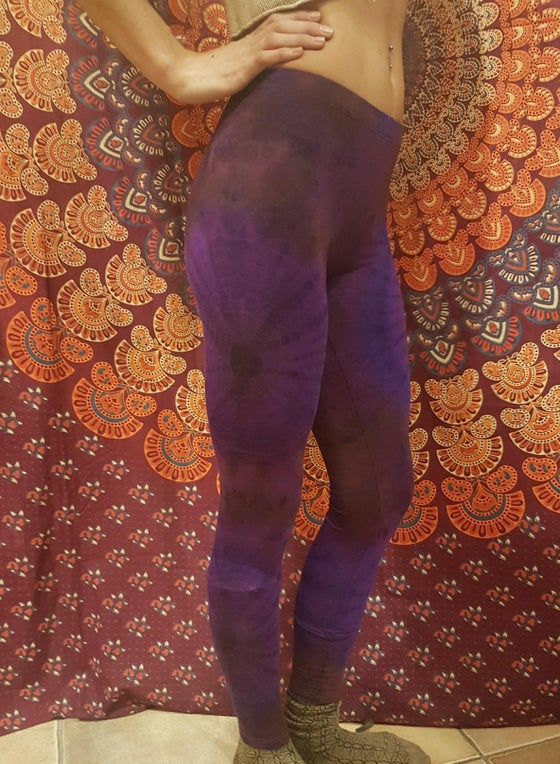 Image of Tie-Dye Leggings Purple
