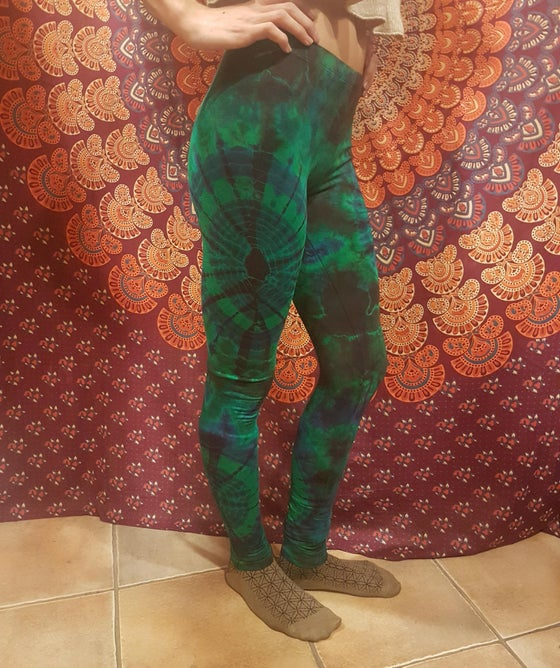 Image of Tie-Dye Leggings Deep Sea