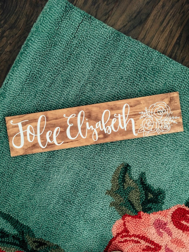 Image of Personalized Hand Lettered Name Wood Decor
