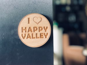 Image of I ♥️ Happy Valley wood Magnet/Coaster