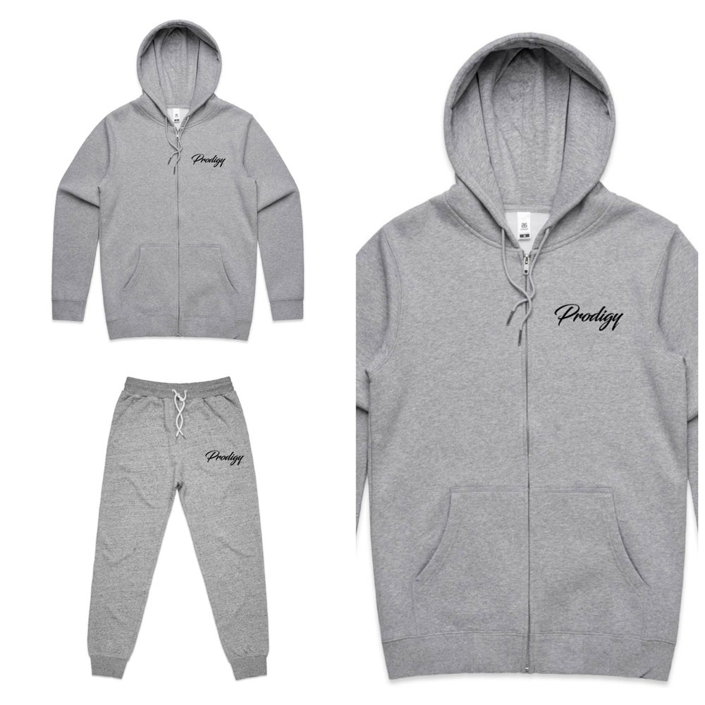 NEW BRAND PRODIGY FULL SCRIPT EMBROIDERED JOGGER  SUIT