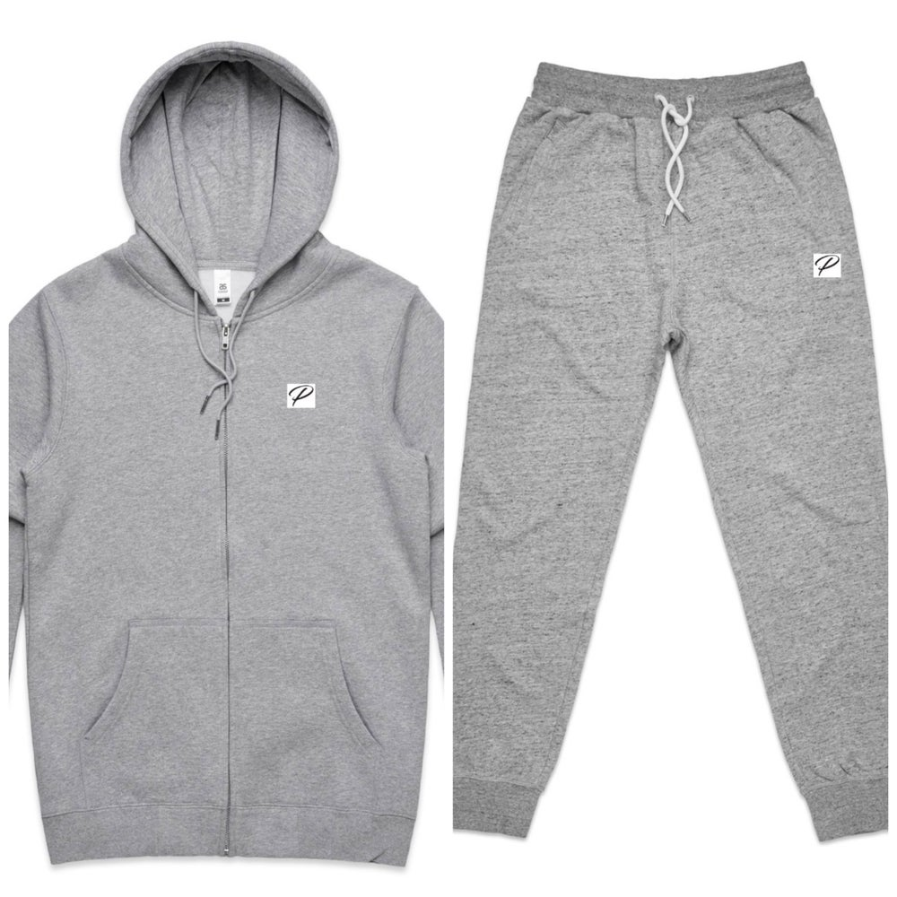 NEW BRAND PRODIGY GREY JOGGER SUIT P PATCH EMBROIDERED