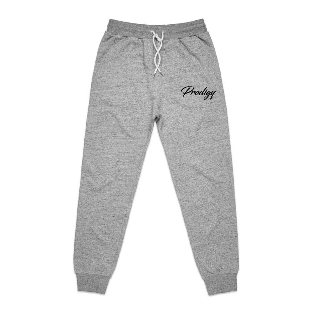 NEW BRAND PRODIGY GREY JOGGERS FULL SCRIPT EMBROIDERED